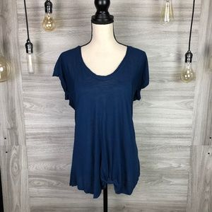 Pink Rose Navy Scoop Top Size X-Large
